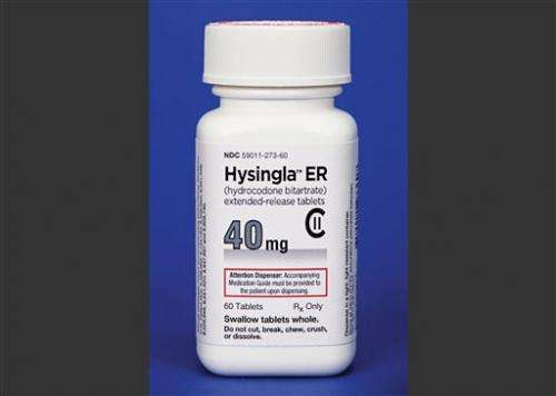FDA approves new, hard-to-abuse hydrocodone pill
