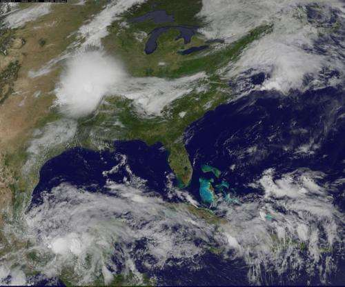 NASA sees remnants of Tropical Storm Boris merging with Gulf low