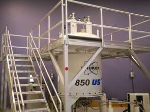 Scientist uses giant spectrometer to search for cure for cancer