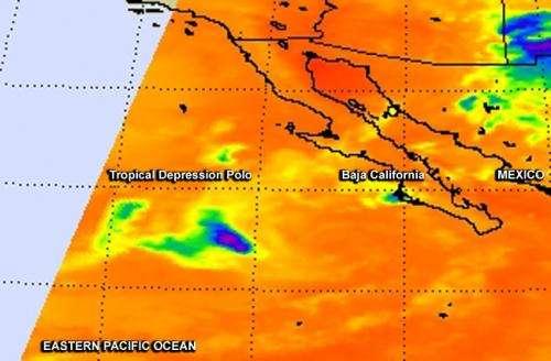 NASA sees Tropical Depression Polo winding down