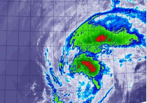 NASA sees Tropical Storm Kammuri winding down over open ocean