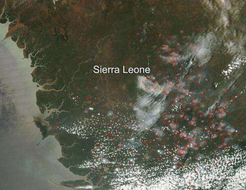 Agricultural fires across Sierra Leone