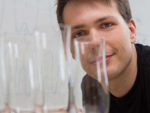 Laser pulse turns glass into a metal