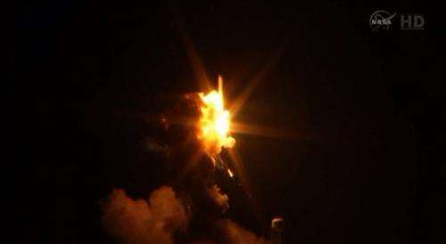 Commercial supply rocket explodes at liftoff