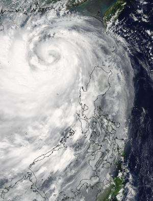NASA sees Typhoon Kalmaegi as a whirlpool of clouds in the South China Sea