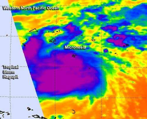 NASA's Terra Satellite catches fast-developing Tropical Storm Hagupit