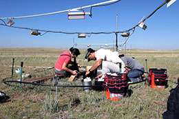 Researchers study elevated CO2 and climate warming in mixed grasslands