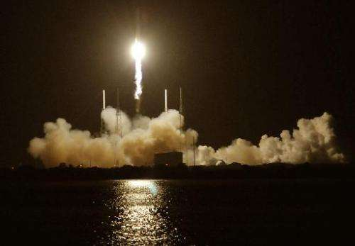 In this file photo, a SpaceX rocket is seen being blasted off at Cape Canaveral, Florida, on October 7, 2012