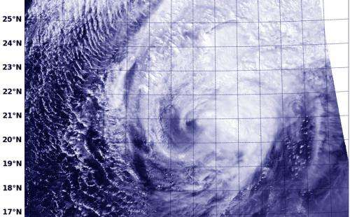 NASA sees Tropical Cyclone Faxai stretching out