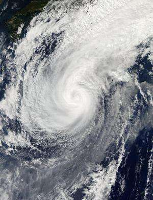 NASA sees Typhoon Nuri pass Iwo To, Japan