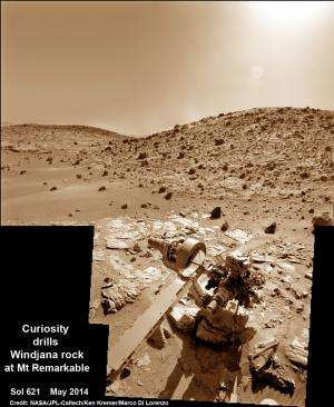 Curiosity rover moving to next target