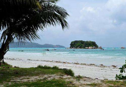 A beach on Praslin island in the Seychelles pictured in March 2012. Environmentalists fear a foreign invading bird is threatenin