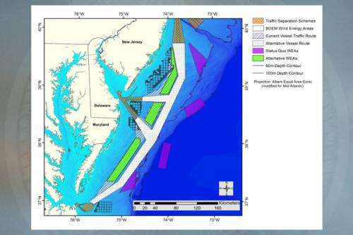 Altering shipping routes for offshore wind development could save billions