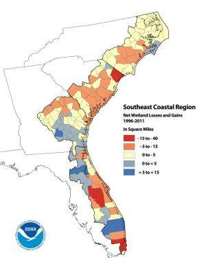 Analysis reveals significant land cover changes in US coastal regions