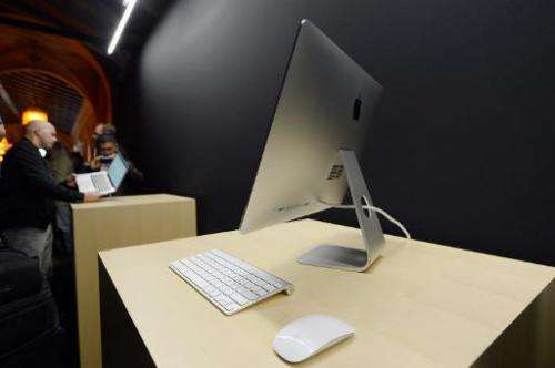 An iMac is on display during an Apple event at the historic California Theater on October 23, 2012 in San Jose, California