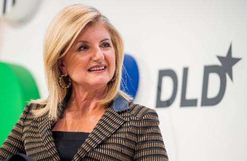 """Arianna Huffingtion, US founder of the """"Huffington Post"""", attends a conference in Munich, southern Germany on January"""