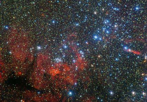 A star cluster in the wake of Carina
