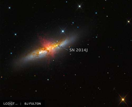 Astronomers observe closest milemarker supernova in generation