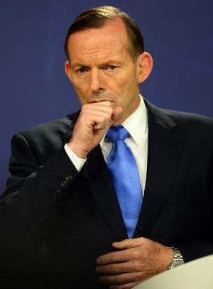 Australia's Prime Minister Tony Abbott, pictured during a press conference in Sydney, on September 19, 2014