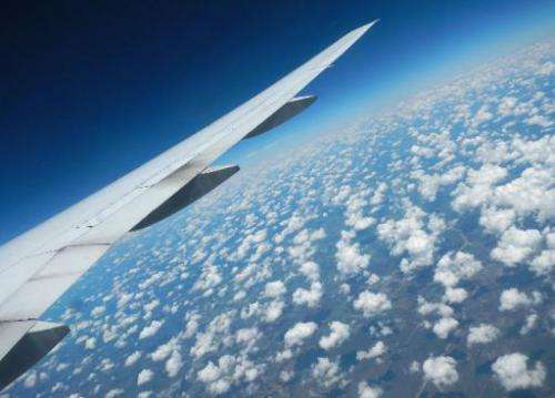 A view from a Boeing 777 passenger jet, cruising at fourty thousand feet, seen on July 24, 2012
