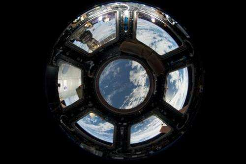 A view of Earth as seen from the Cupola on the Earth-facing side of the International Space Station, on June 18, 2013