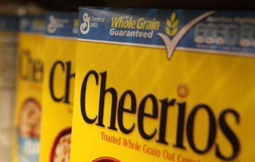 Boxes of Cheerios cereal, made by General Mills, sit on the shelf at a grocery store in Berkeley, California, on September 23, 2