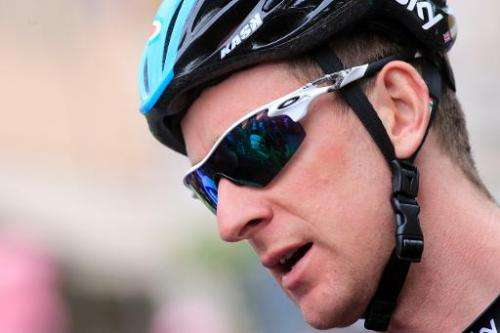 Britain's Bradley Wiggins is pictured prior to take the start of the 5th stage of 96th Giro d'Italia cycling race on May 8, 2013