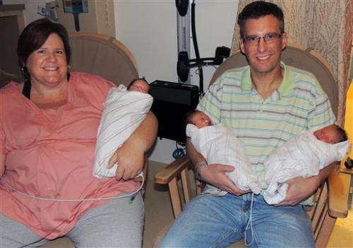 California couple welcomes identical triplets