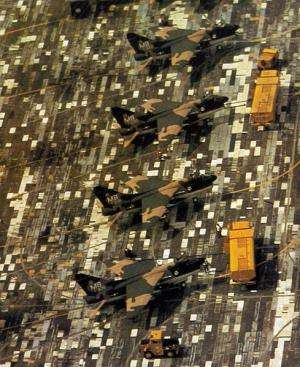 Camouflage has many real-world applications, as these US Air Force Corsair II fighters show. Image: USAF