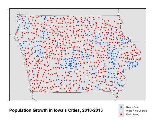 Census data analysis shows majority of Iowa communities are shrinking
