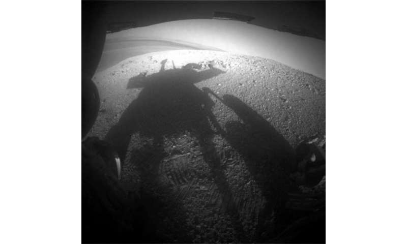 Cleaner NASA Rover Sees Its Shadow in Martian Spring