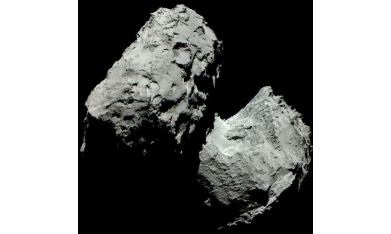 Comet 67p/c-g in living colour