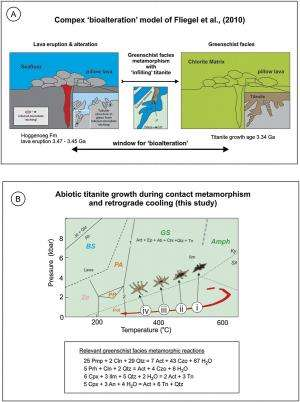 Contrasting models for the origin of titanite microtextures in Archean pillow lavas