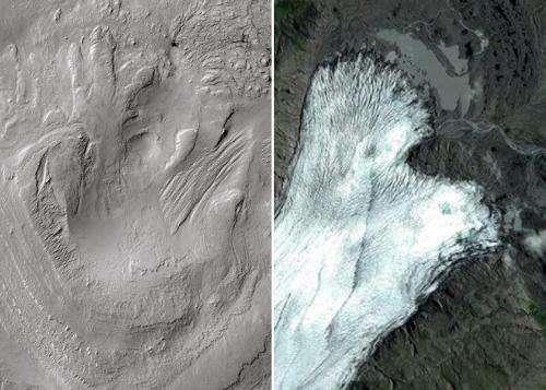 Curiosity travels through ancient glaciers on Mars