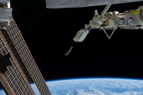 Deployment of miniature satellites from the International Space Station