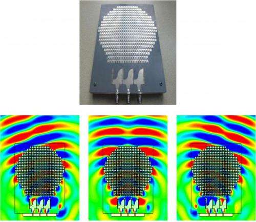 Device turns flat surface into spherical antenna