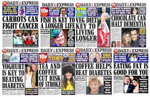 Don't believe the Daily Express, it takes a lot more than carrots to beat cancer