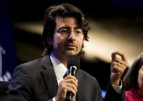 eBay founder Pierre Omidyar speaks during the panel session Democracy and Voice: Technology For Citizen Empowerment and Human Ri