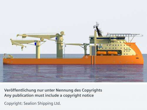 Economical and agile offshore construction ship