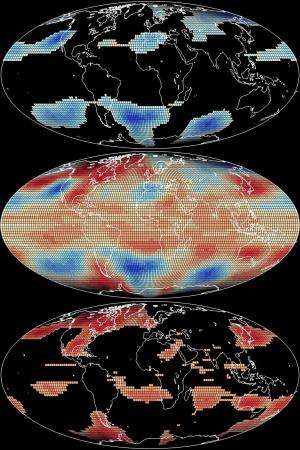 Temperature anomalies are warming faster than Earth's average