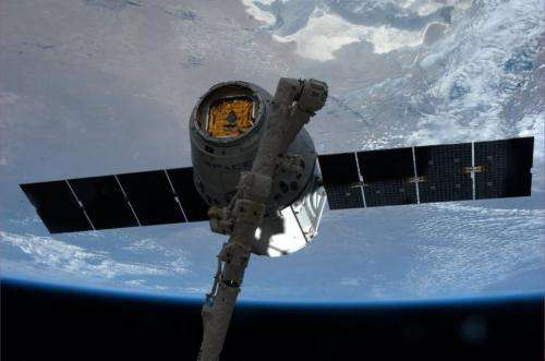 ESA's weightless plants fly on a Dragon