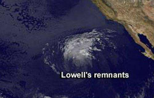 Former Hurricane Lowell finally fades away
