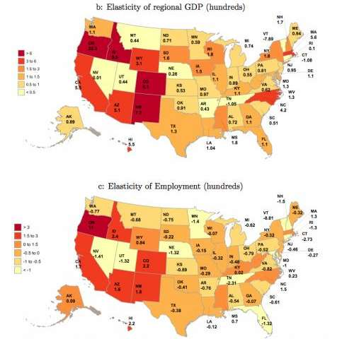 Geography matters: Model predicts how local 'shocks' influence U.S. economy