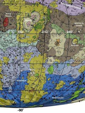 Geologic mapping of asteroid Vesta reveals history of large impacts