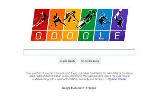 Google has marked the Winter Games in Sochi by flying the gay flag in a search page Doodle that linked to a call for equality in