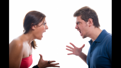 Happy couples can get a big resolution to a big fight -- mean talk aside