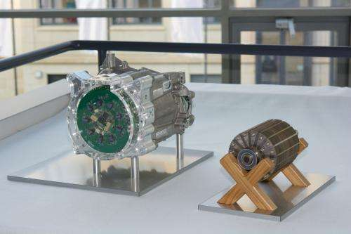 Highly integrated electric motor unifies powertrain components for an electric vehicle
