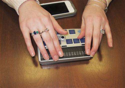 High-tech items giving deaf-blind online access