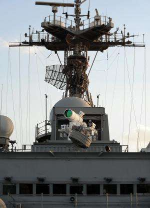 Historic leap: Navy shipboard laser operates in Persian Gulf