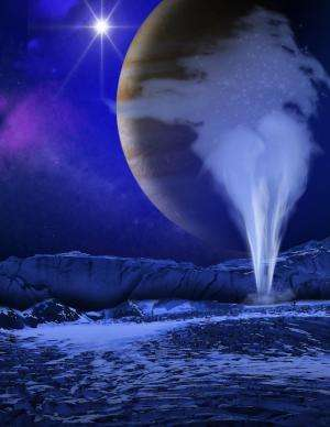 How can we search for life on icy moons such as Europa?